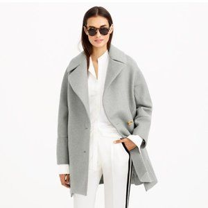 J.CREW Gray Melton Wool Swing Coat